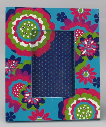 Multicolor Flower Picture Frame