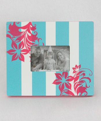 Blue & Pink Flower Frame