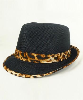 Black & Leopard Fedora