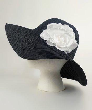 Black & White Flower Sunhat