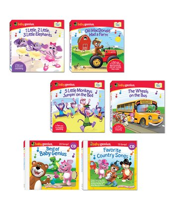Best of Baby Genius Board Book & CD Set