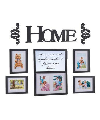 'Home' Frame & Wall Art Set