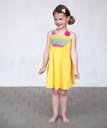 Yellow & Green Laila Dress - Toddler & Girls