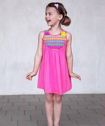 Pink & Yellow Laila Dress - Toddler & Girls