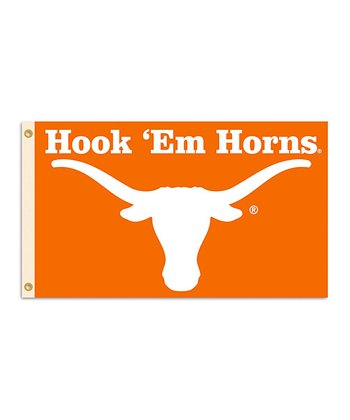 Texas 'Hook 'Em Horns' Grommet Flag