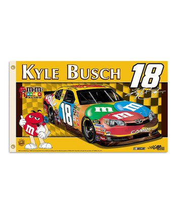 Kyle Busch #18 Double-Sided Flag