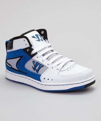 Warrior White & Royal Blue Hound Dog Sneaker
