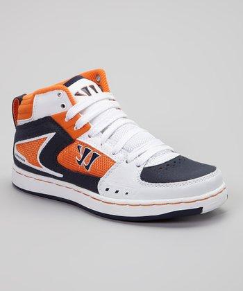 Warrior White & Orange Hound Dog Sneaker