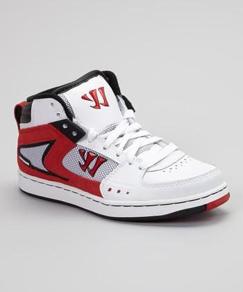 Warrior White & Red Hound Dog Sneaker