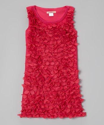 Paulinie Fuchsia Petal Dress - Toddler & Girls