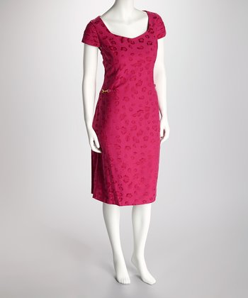 Fuchsia Animal Dress - Women