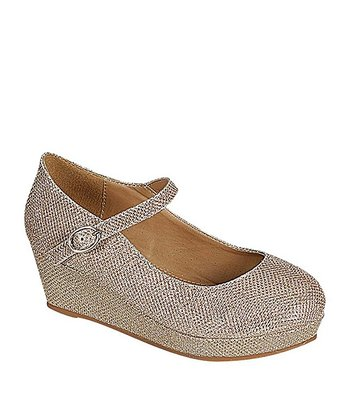 Gold Lovely Wedge Mary Jane