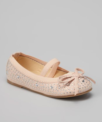 Nude Bow Strap Lovely Flat