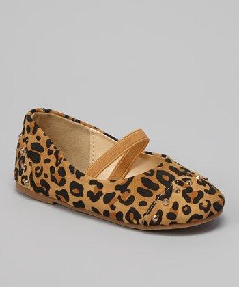 QQ Girl Leopard Stud Strap Lovely Flat