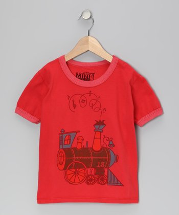 Red Choo Choo Organic Tee - Toddler & Kids