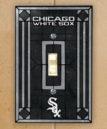 Chicago White Sox Art Glass Light-Switch Cover