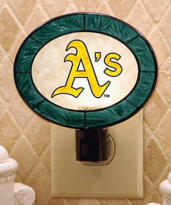 Oakland Athletics Art Glass Night-Light