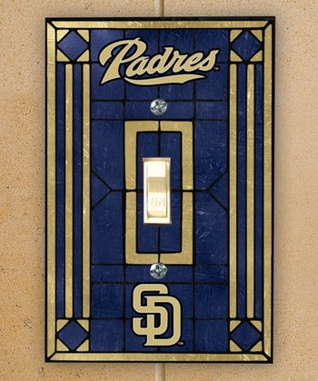 San Diego Padres Art Glass Light-Switch Cover