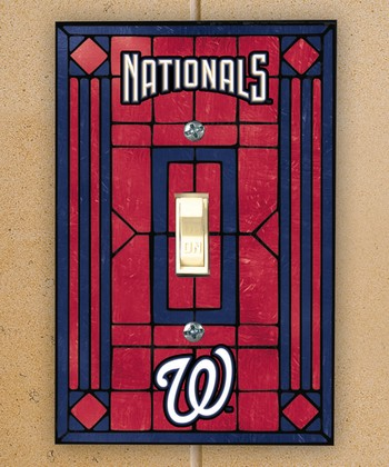 Washington Nationals Art Glass Light-Switch Cover