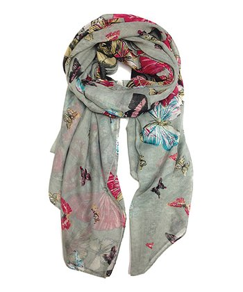 Gray Butterfly Scarf