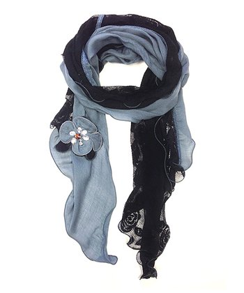 Black & Gray Daisy Scarf