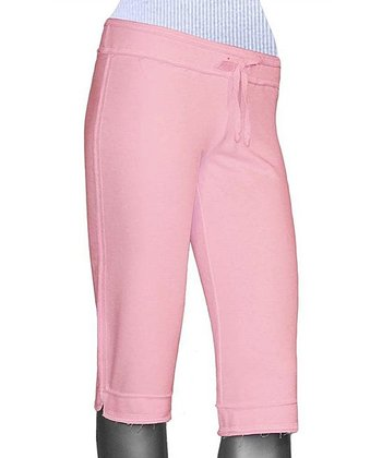 Baby Pink Capri Yoga Pants - Women