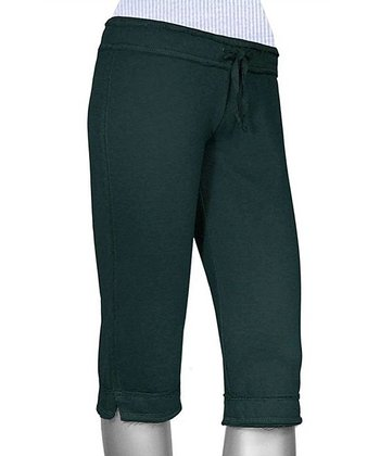 Indigo Raw Edge Capri Yoga Pants - Women