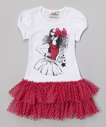 Hot Pink Rockstar Tutu Dress
