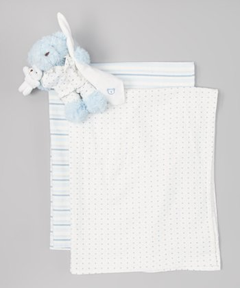 Blue Bear Pyjimini Stroller Blanket Set