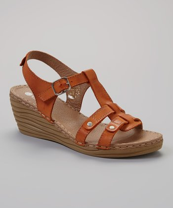 Orange Carla Wedge Sandal