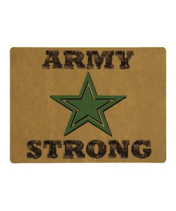Tan 'Army Strong' Doormat