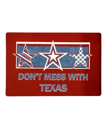 Red 'Don't Mess With Texas' Doormat