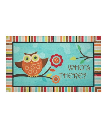 'Who's There?' Owl Doormat