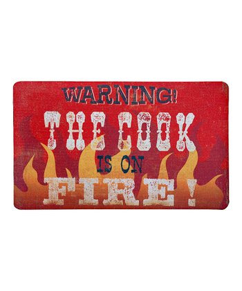 'Cook Is on Fire' Outdoor Doormat
