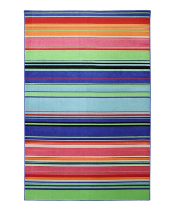 Wild Aster Stripe Indoor/Outdoor Rug