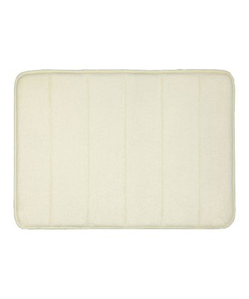 Cream Memory Foam Bath Mat