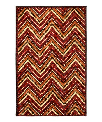 Orange Zigzag Francesca Rug
