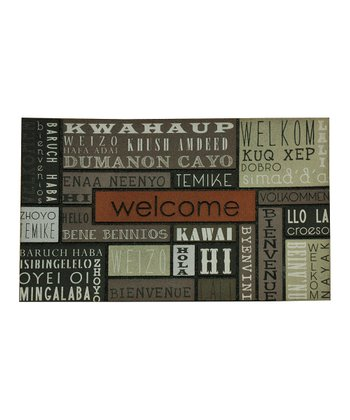 'Welcome' Language Doormat