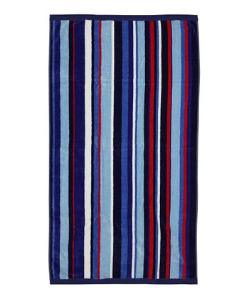 Blue Stripe Beach Towel