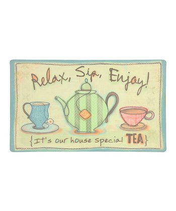 'Relax, Sip, Enjoy' Eco-Cushion Doormat