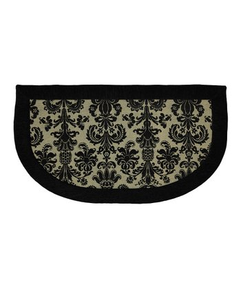 Damask Memory Foam Kitchen Slice Rug