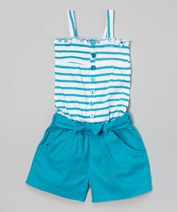 Blue Stripe Romper - Infant & Toddler