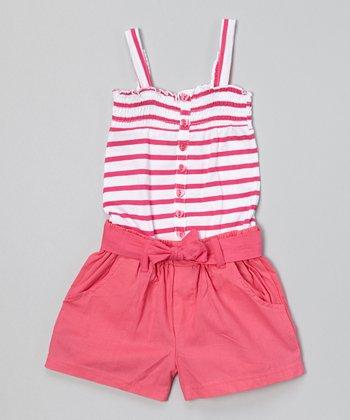 Pink Stripe Romper - Infant & Toddler