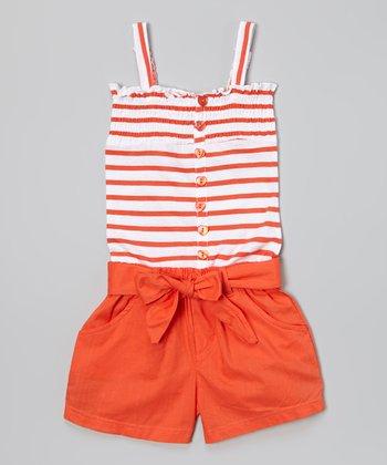 Mango Stripe Romper - Infant & Toddler