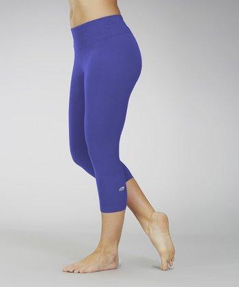 Spectrum Blue Capri Leggings - Women