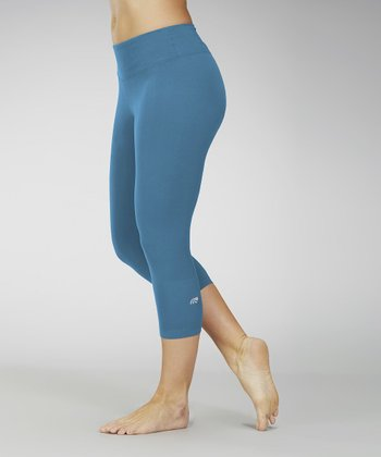 Ink Blue Capri Leggings - Women