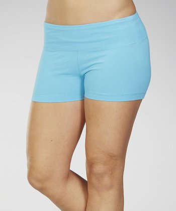 Feather Aqua Stretch-Fit Shorts - Women