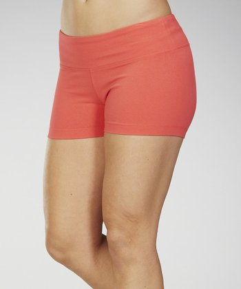 Diva Pink Stretch-Fit Shorts - Women