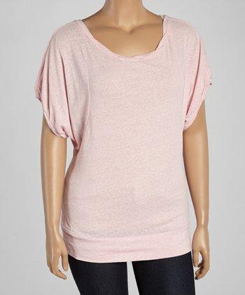 Light Pink Snow Dolman Top - Plus