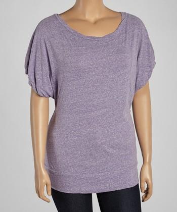 Purple Snow Dolman Top - Plus